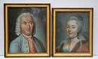 Pair of Pastel Portraits, Continental, late 18th C