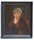 American School Portrait of a Woman,, 2ndQ 19thC