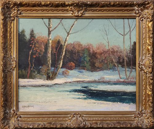 Early Snowfall in Woodstock NY by J Henry Hallberg