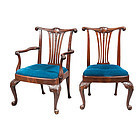 Set of Eight George III-Style Mahogany Chairs