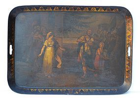 English Painted Tole Tray, circa 1840