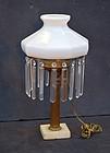 American Brass Oil Lamp, Cornelius PA, ca. 1840