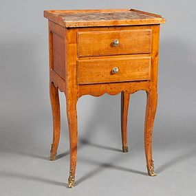 Louis XV Fruitwood Stand with Marble top Ca. 1770