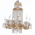 Neo-Classical Gilt Metal and Cut Glass Fixture