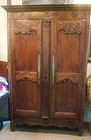 French Provincial Chestnut Armoire, 19th C