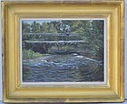 Creek Landscape Oil Painting by John Winthrop Andrews