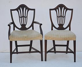 Set of Eight Federal Style  Mahogany Dining Chairs