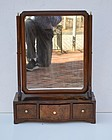 Early George III Mahogany Shaving Mirror, ca. 1765