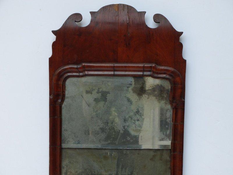 George I Walnut Mirror, circa 1725-35