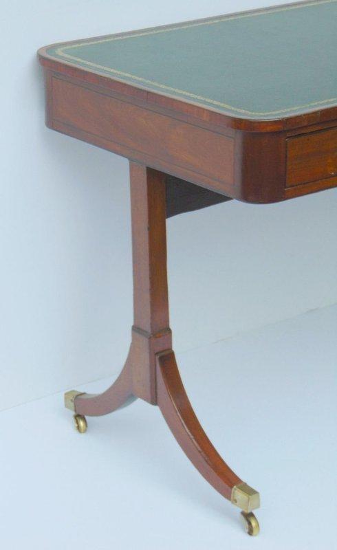 Regency Mahogany Writing Table early 19th C.