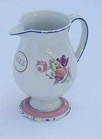 Pearlware Jug, England Late 18th Century