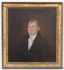 A New England Gentleman Folk Art oil painting by John Brewster Jr