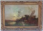 "Arthur Hoeber  (1854 - 1915), ""Evening Glow"", American"