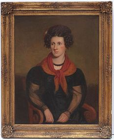 American School Portrait of Rebecca Sterns, circa 1815