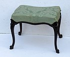 English Carved Rosewood Small Bench/Stool Ca. 1840-50