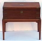 English Mahogany Mounted Writing Box on Stand, circa 1860.