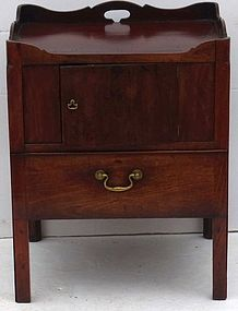 George III Mahogany Commode Stand, 18th C.