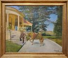 "Oil Painting of a Sporting Homestead Signed ""Hanewood"" Wakefield 1895"