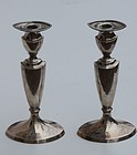 Pair of American Sterling Candlesticks, second quarter 20th C