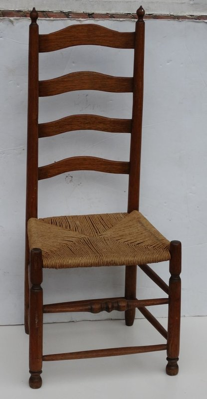 American Slat Back Side Chair, late 18th C.