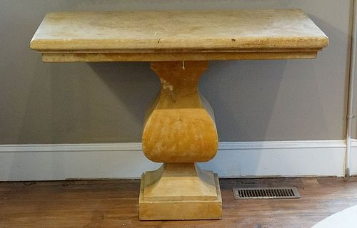 Sienna Marble Table, 20th C.