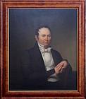 American School Portrait of a Gentleman circa 1840