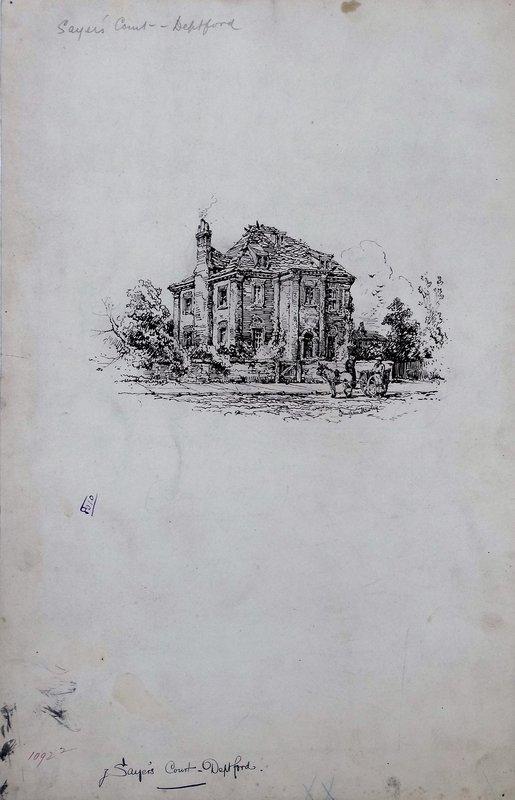 Hughson Hawley, Saye's Court Deptford, England, 1850-1936