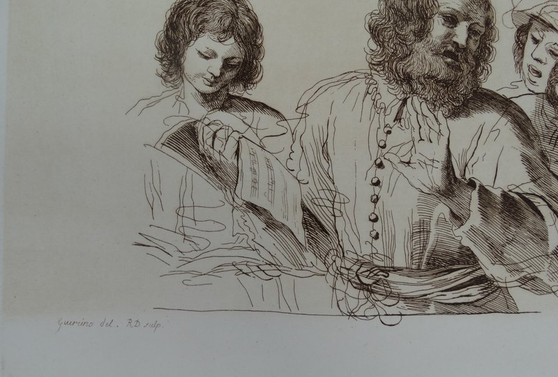 The Music Teachers after Franceso Barbieri called Guercino (1591-1666)