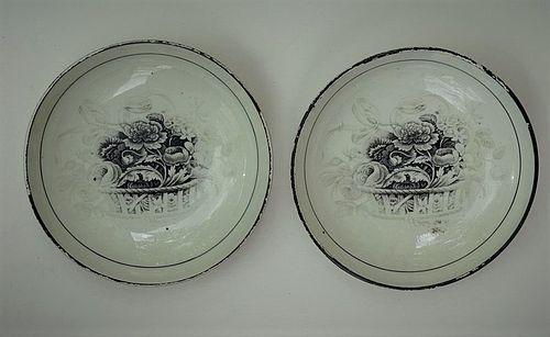 Pair of English Creamware cups and saucers, circa 1825