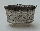 Dutch Silver Footed Small Bowl, 19th C.