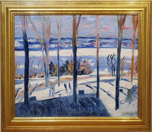 Winter Landscape Oil Painting by Dorothea Litzinger