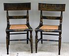 Pair of Federal Painted Fancy Chairs, Baltimore, circa 1825