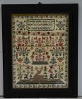 English Needlework Sampler, dated 1841