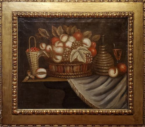 18th Century Spanish Still Life of Fruit Baskets