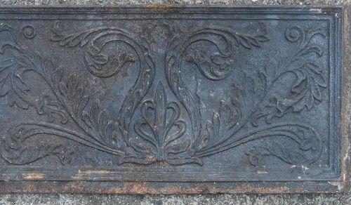 American Cast Iron Stove Plate, circa 183-45