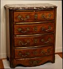 Regence Style Marble Top Commode, late 19th C
