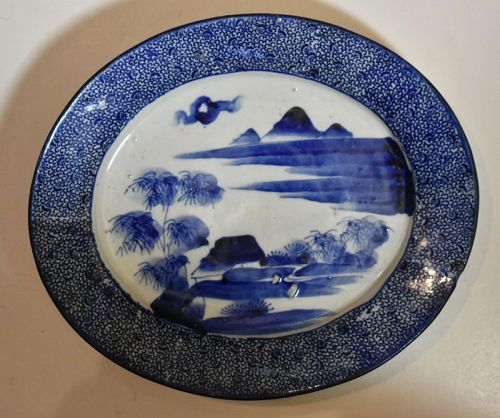 Japanese Porcelain Oval Dish, circa 1900