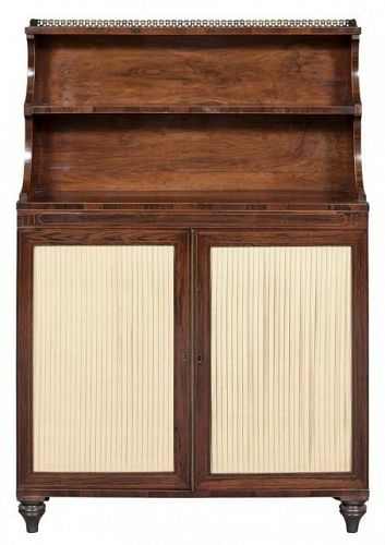 English Regency Rosewood Chiffonier, circa 1820-1825