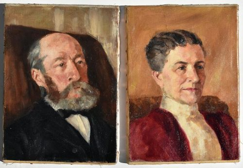 John Winthrop Andrews , American (1879-1964) Pair Portraits