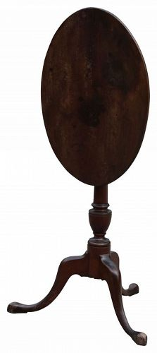 Federal Birch Tilt Top Candlestand, New Hampshire, Ca. 1810