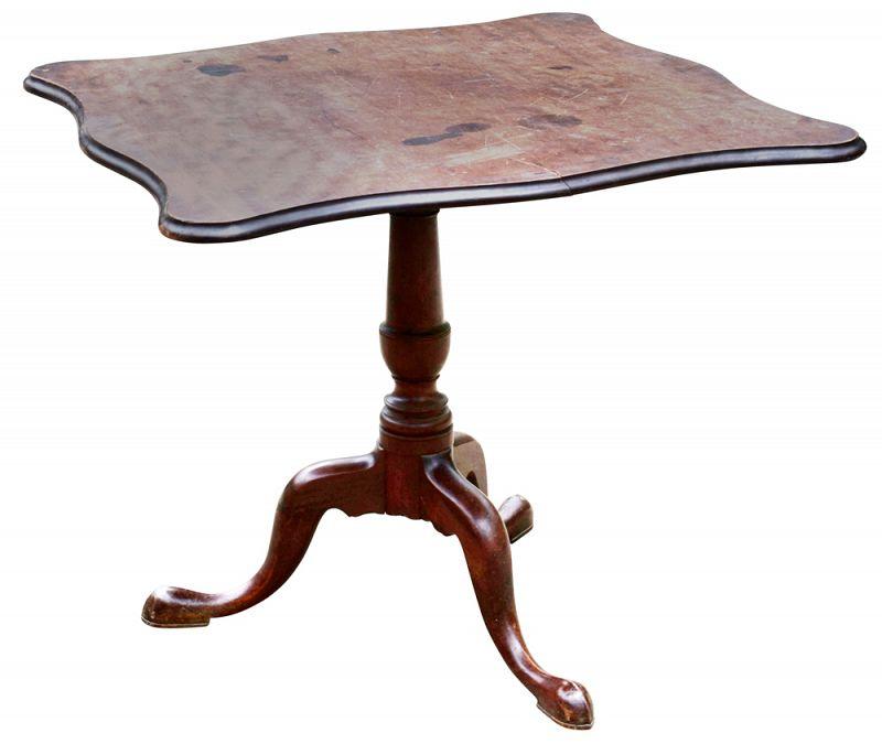 American Chippendale Mahogany Tilt Top Tea Table, MA, Ca 1780