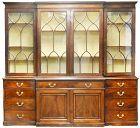 George III Mahogany Breakfront Bookcase, Circa 1770-1785
