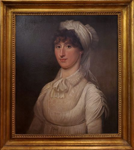 American School Portrait of a Woman, Ca. 1815