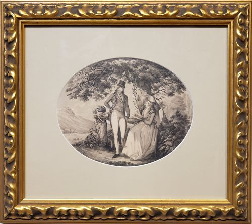 B. Koller, Drawing German/Swiss, dated 1796