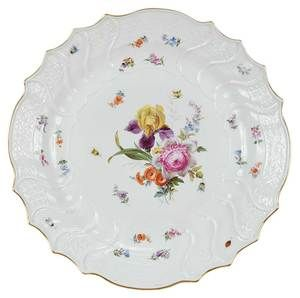 Meissen Porcelain Charger, German, early 20th C.