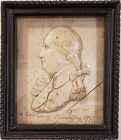 American Wax Relief Portrait of George Washington Early 20th Century