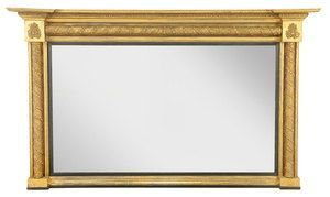 English Regency Giltwood Over mantle Mirror Ca. 1825-35