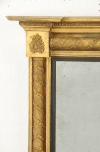 English Regency Giltwood Over mantle Mirror Ca. 1825-35