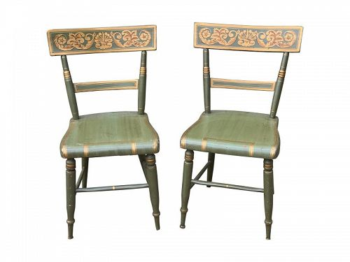Pair of Federal Painted Fancy Chairs, Baltimore, circa 1835