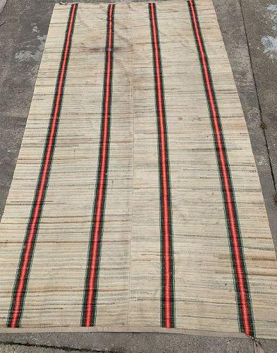 American Cotton Rag Rug, Circa 1930-45